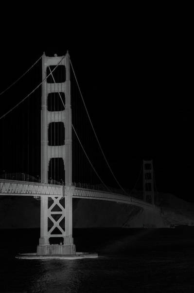 Wall Art - Photograph - Golden Gate Bridge In Black And White by Art Spectrum