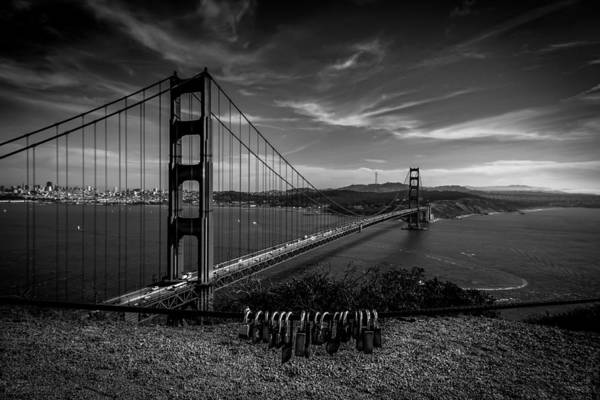Golden Gate Bridge Locks Of Love Art Print