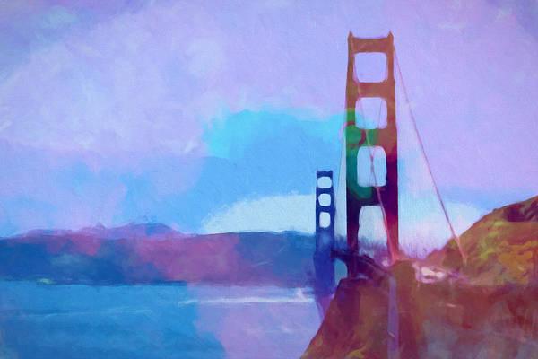 Golden Gate Painting - Golden Gate Bridge by Lutz Baar