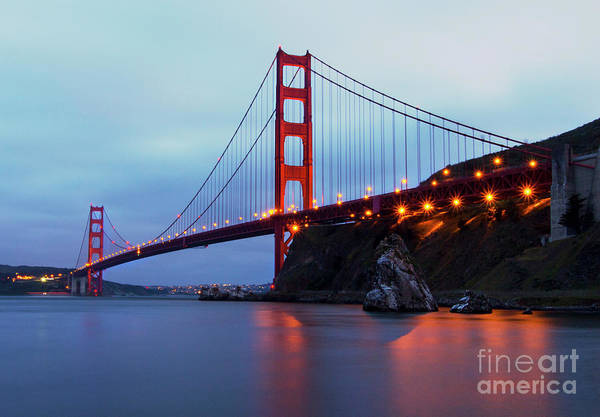 Wall Art - Photograph - Golden Gate Bridge Nightfall by Jennifer Ramirez