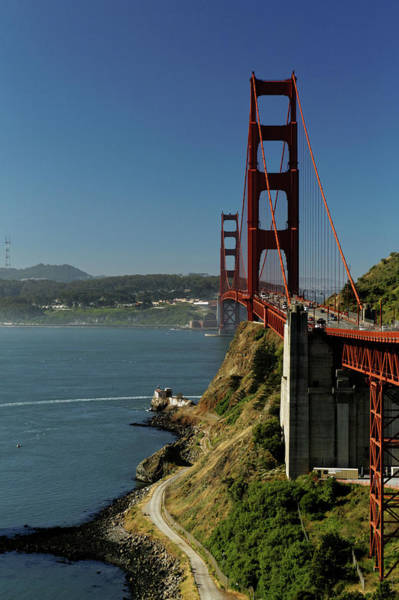 Photograph - Golden Gate Bridge - North View by Harold Rau