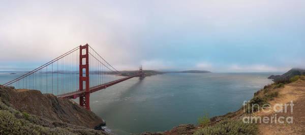 Photograph - Golden Gate Bridge Panorama  by Michael Ver Sprill