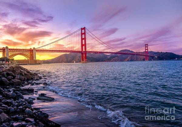 Photograph - Golden Gate Bridge by Pd