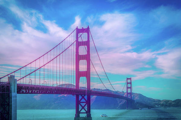 Wall Art - Digital Art - Golden Gate Bridge,  San Francisco by Art Spectrum