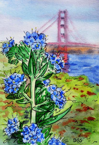 Golden Gate Painting - Golden Gate Bridge San Francisco by Irina Sztukowski