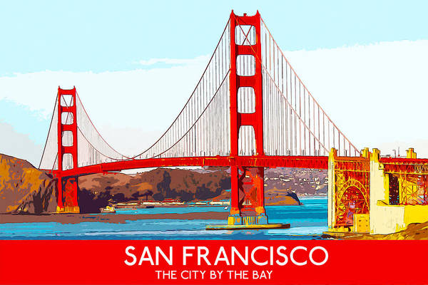 Digital Art - Golden Gate Bridge San Francisco The City By The Bay by Anthony Murphy