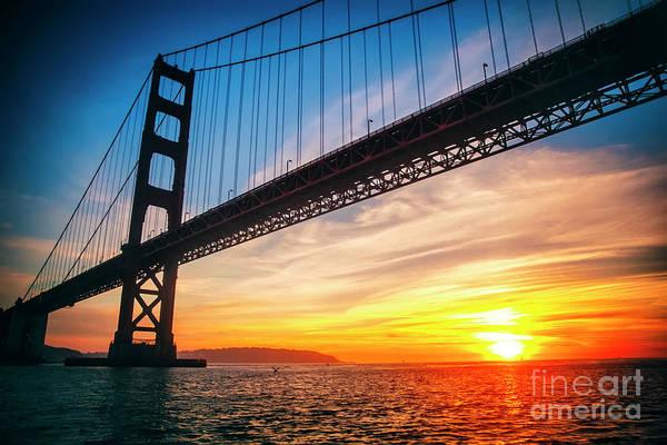 Wall Art - Photograph - Golden Gate Bridge Sunset by Katya Horner