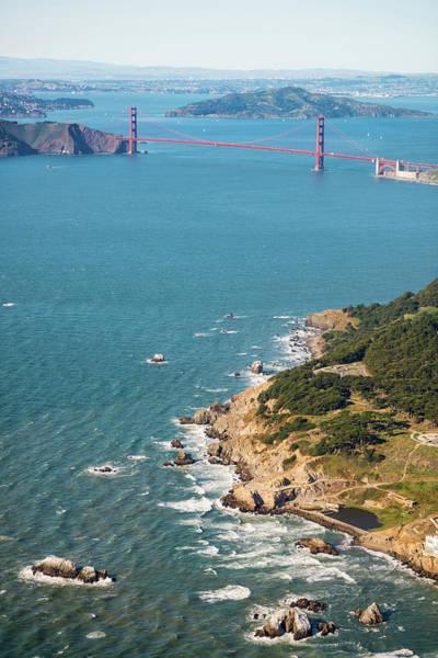 Wall Art - Photograph - Golden Gate Coast Aloft by Steve Gadomski