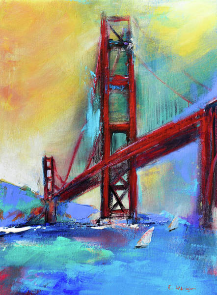 Painting - Golden Gate Colors by Elise Palmigiani