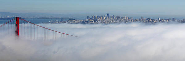 Golden Gate Fog Pano Art Print