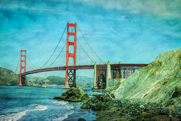Expanse Photograph - Golden Gate From Baker Beach by Mike Burgquist