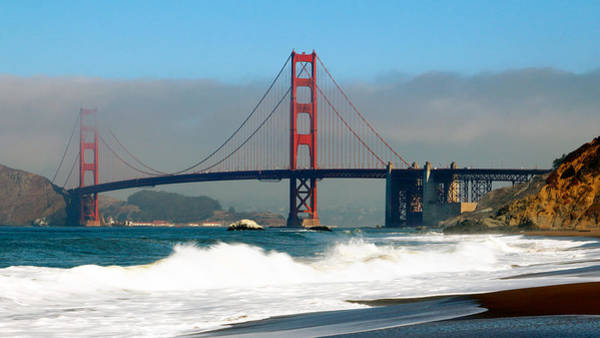 Photograph - Golden Gate From Baker's Beach by Nicholas Blackwell