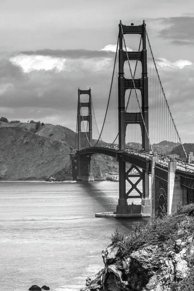 Photograph - Golden Gate In Black And White by Cliff Wassmann