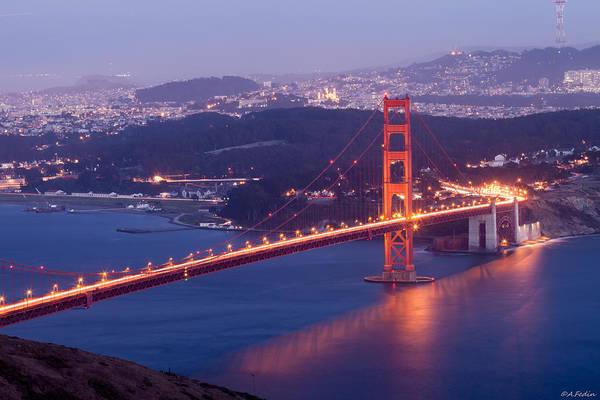 Photograph - Golden Gate In Golden Hours by Alexander Fedin