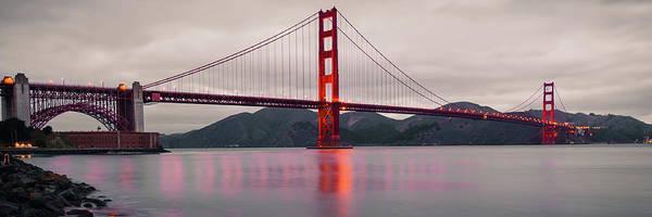 Photograph - Golden Gate Panoramic Artwork - San Francisco California by Gregory Ballos