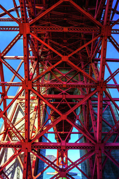 Steel Beams Wall Art - Photograph - Golden Gate Structure by Garry Gay