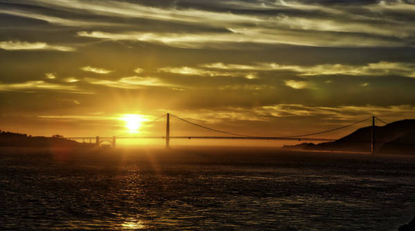 Photograph - Golden Gate Sunset by Chris Cousins