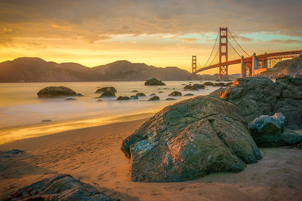 Road Photograph - Golden Gate Sunset by James Udall