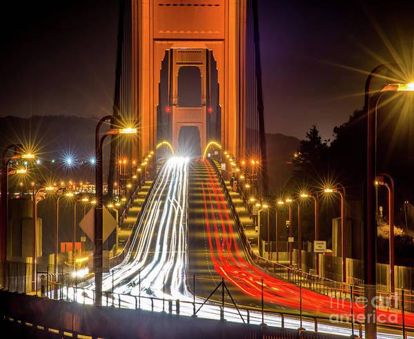 Wall Art - Photograph - Golden Gate Traffic by Michael Tidwell