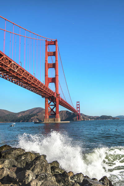 Photograph - Golden Gate Waves by Stacey Sather