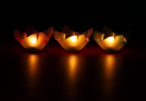 Candles Wall Art - Photograph - Golden Glow by Evelina Kremsdorf