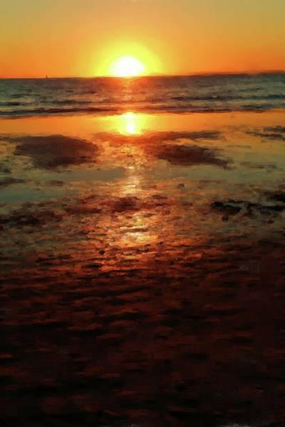 Laguna Beach Mixed Media - Golden Glow by John Loyd Rushing