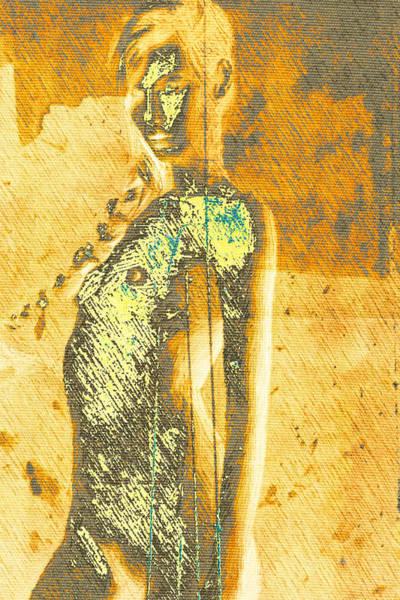 Blondie Digital Art - Golden Graffiti by Andrea Barbieri