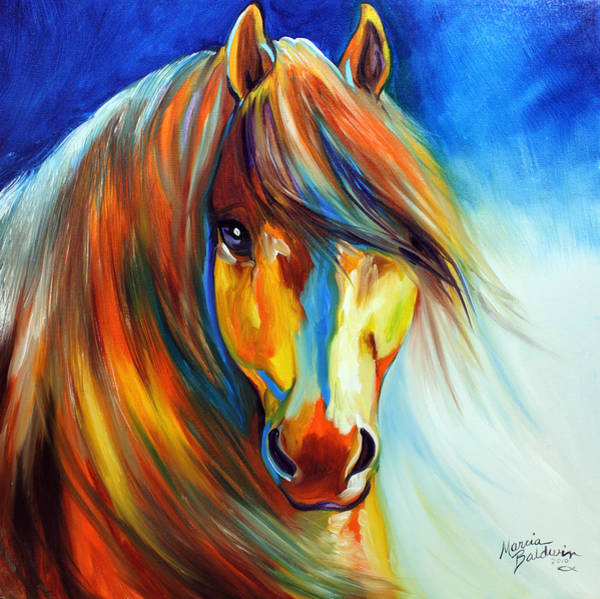 Wall Art - Painting - Golden Gypsy by Marcia Baldwin