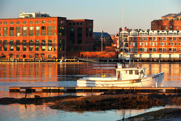 Wall Art - Photograph - Golden Harbor - Portsmouth by Eric Gendron