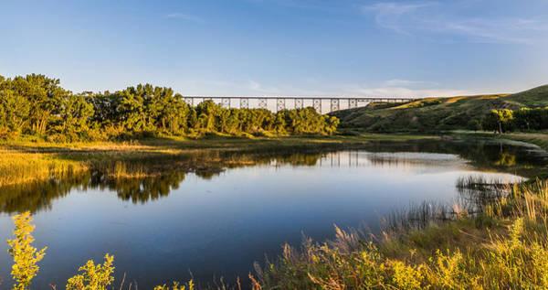 Lethbridge Photograph - Golden High Level Bridge by Dwayne Schnell