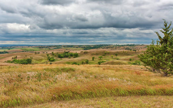 Photograph - Golden Hills And Darkening Skies by John M Bailey