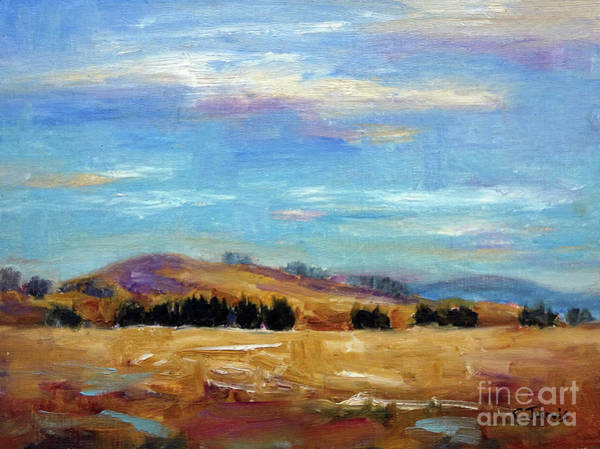 Painting - Golden Hills Summer by Carolyn Jarvis