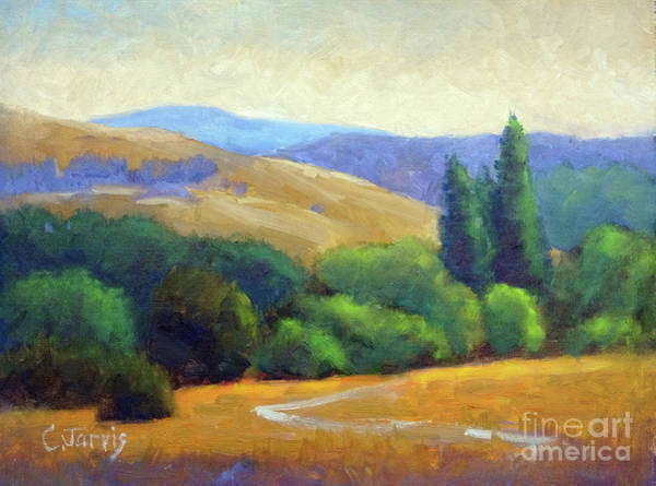 Painting - Golden Hills Vista by Carolyn Jarvis