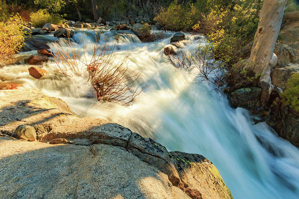 Wall Art - Photograph - Golden Hour Atop Upper Eagle Falls by Mike Herron