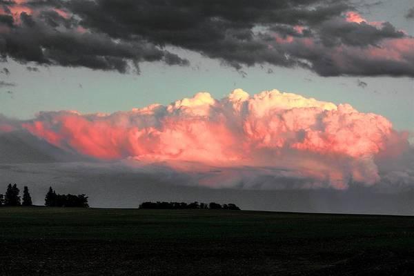 Photograph - Golden Hour Clouds by David Matthews