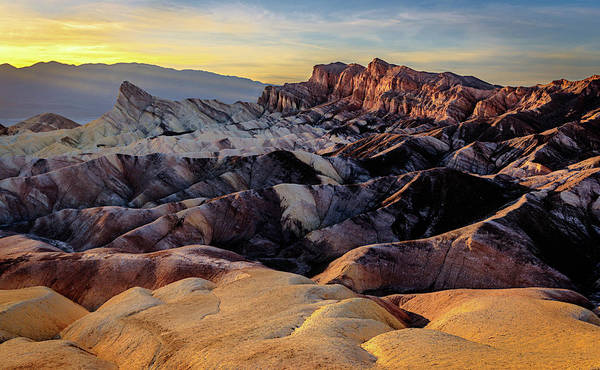 Photograph - Golden Hour Light On Zabriskie Point by John Hight