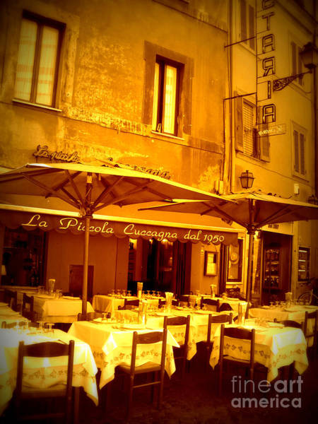 Outdoor Cafe Photograph - Golden Italian Cafe by Carol Groenen