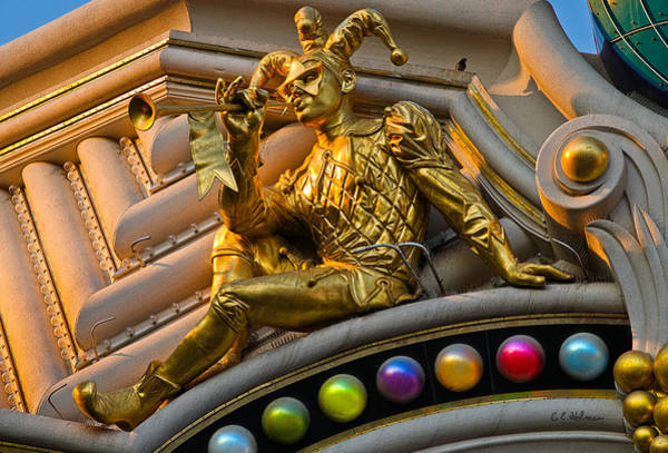 Harrahs Photograph - Golden Jester by Christopher Holmes