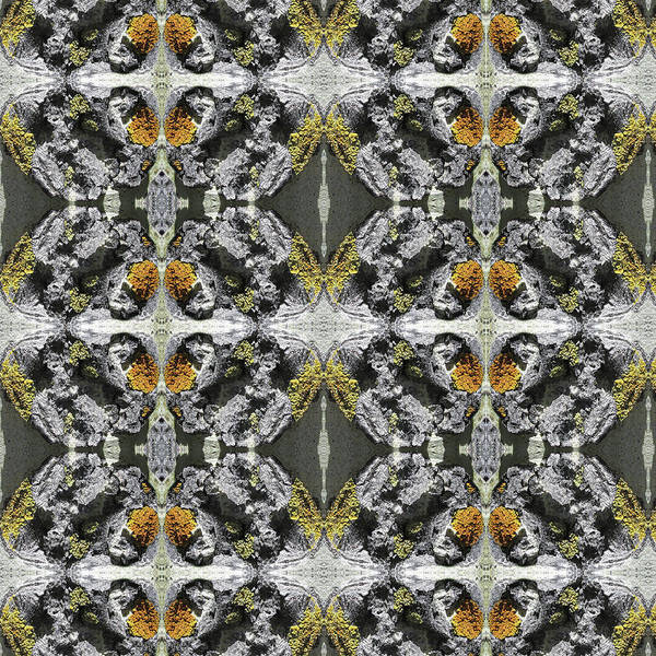 Digital Art - Golden Kaleidoscope Texture V1 by Julia L Wright