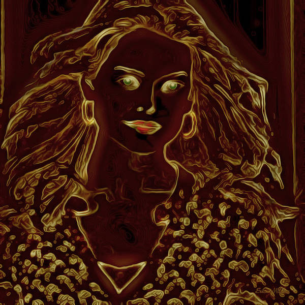 Digital Art - Golden Lady by Ericamaxine Price