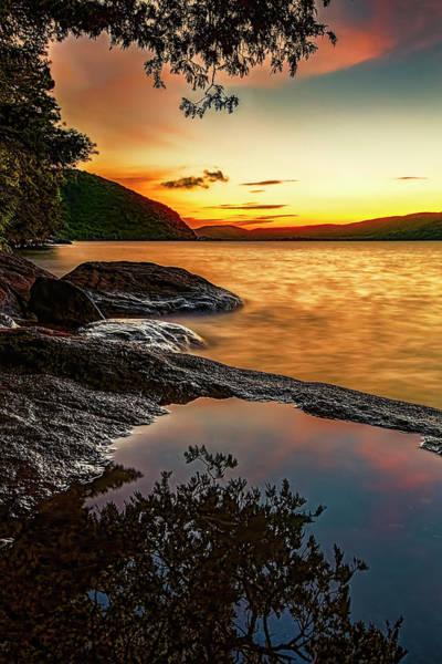Bolton Landing Wall Art - Photograph - Golden Lake George Sunrise by Tony Beaver