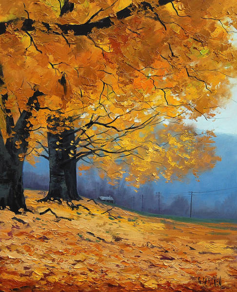 Leaf Painting - Golden Leaves by Graham Gercken