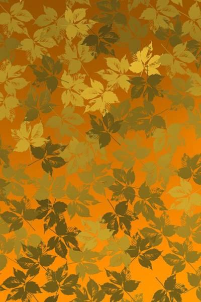 Digital Art - Golden Leaves In Golden Environmet by Alberto RuiZ