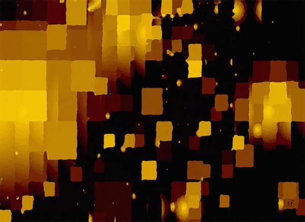 Digital Art - Golden Light And Dark  by Shelli Fitzpatrick