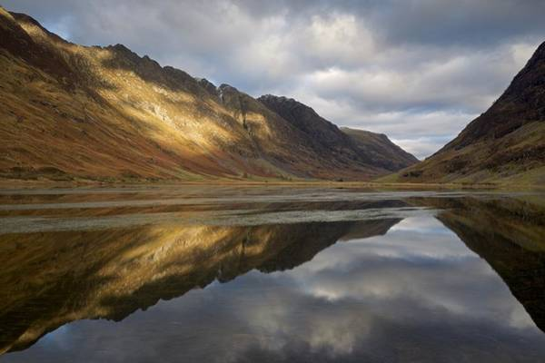 Photograph - Golden Light And Reflections In Glencoe by Stephen Taylor