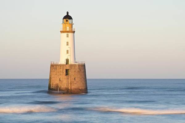 Photograph - Golden Light And Sea Waves At Rattray Head by Stephen Taylor