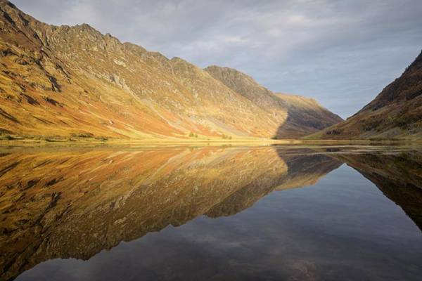 Photograph - Golden Light And Still Waters At Loch Achtocitan by Stephen Taylor