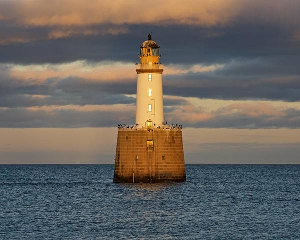 Photograph - Golden Light And Stormy Clouds At Rattray Head by Stephen Taylor