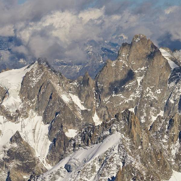 Photograph - Golden Light At Aiguille Du Midi by Stephen Taylor