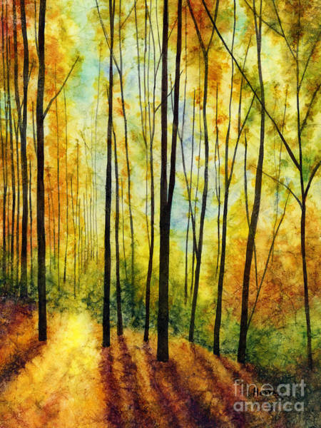 Monochrome Painting - Golden Light by Hailey E Herrera